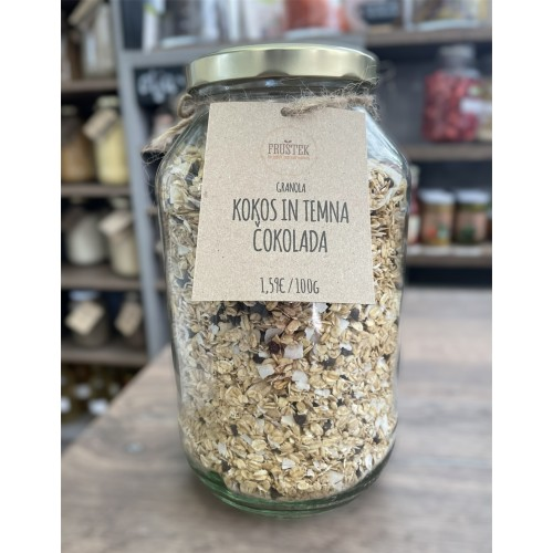 granola coconut and dark chocolate
